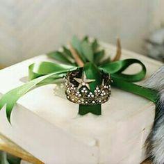 Embrulho verde e branco @designsgirl