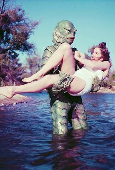 1950s Retro Monster Movie | 1940s Pulp Alien | 1960 Scream Flick | Monster from the Blue Lagoon | Pinup Beaty | Cheesecake