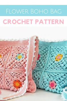 so pretty this little boho flower crochet bag pattern- i like that the strap is longer too than most crochet bags - pattern pretty easy like 8 big squares pretty much #crochetbag #crochetbagpattern #boho #crochetflowerbag #crochetpatterns #crochet #crochetpatterns #affiliate