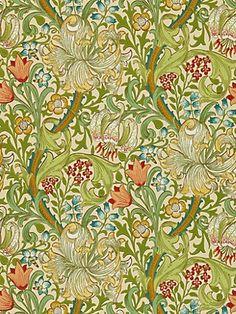 Shop William Morris Golden Lily Vintage Pre-Raphaelite Tile created by artfoxx.