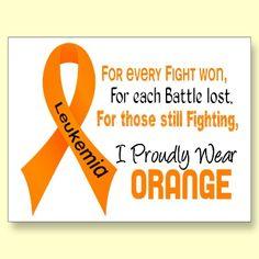 September is Leukemia Awareness month~ Go Orange ...