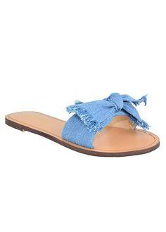 ec207f6d5b60 Roux Denim Bow Sandal Denim Sandals