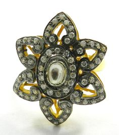 Fabulous Quality Black Oxidized Silver Ring Jewelry With Fine 18k Gold Plating #Magicalcollection
