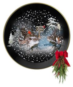 """Christmas Plate"" by suelb on Polyvore featuring art, decor, artset, creativesets and artscape"
