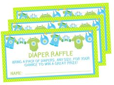 Boys Clothesline Diaper Raffle Tickets Pack Of Diapers, Diaper Raffle Tickets, Clothes Line, Baby Showers, Card Stock, Packing, Invitations, Boys, Prints