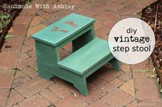 DIY Vintage Step Stool | Do It Yourself Home Projects from Ana White
