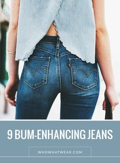 Nine bum-enhancing jeans to shop right now. // #Shopping #Jeans