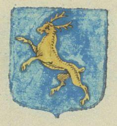 Gabrielle DE SÉGUIRAN, veuve GUÉRIN, conseiller du roi au parlement de Provence. Porte : d'azur, à un cerf rampant d'or | N° 1669