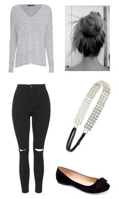 """Casual Lunch"" by mitchieanne21 on Polyvore featuring Topshop, rag & bone, L. Erickson and Machi"