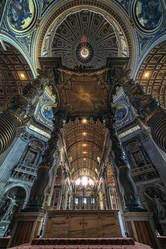 Really amazing pix that belongs to:  The Papal Altar, St. Peter's Basilica, Rome   peter stewart
