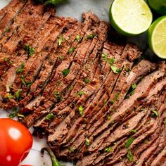 Marinated flank or skirt steak is grilled to perfection for the best Authentic Carne Asada recipe. This tender, grilled meat is full of authentic Mexican flavor. Authentic Carne Asada Recipe, Marinated Flank Steak, Homemade Dinner Rolls, Grilled Meat, Grilled Shrimp, Skirt Steak, Cooking On The Grill, How To Cook Steak, Mexican Food Recipes