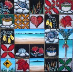 Anita Madhav - wonderful Kiwi artist! Kauai, Tiles, Artist, Room Tiles, Tile, Backsplash, Artists