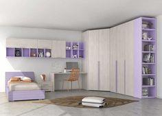 Cameretta composta da armadio ante battenti con cabina armadio e libreria terminale, parete letto   e zona studio  cm 180+150 h 210. …
