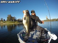 Ultraskiff Team Member Andre with a huge double digit Largemouth Bass!  Ultraskiff - Round Boat | Round Watercraft | Round Skiff | Round Boats | Roundboat | Ultra | Skiff | 360 | Round Watercrafts | Round Skiffs | Small Boat | One Man Boat | Ultraskiff | Sales | Dealer | Personal Watercraft | Roundboats | Portable