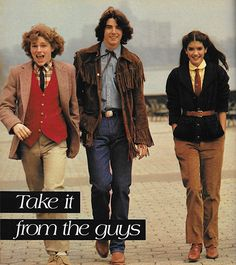July 1979. 'Here, a whole group of menswear pieces – the way guys wear 'em.'