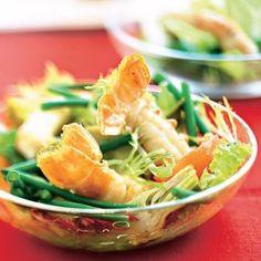 Salade chic aux langoustines