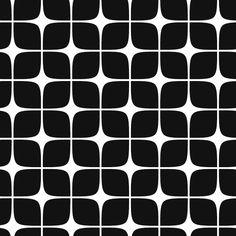Pattern Modern Deco Black & White by maaikeflis, via Flickr