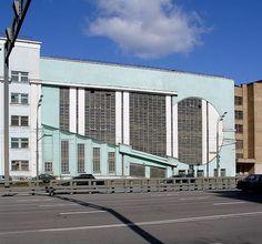 Intourist Garage by Konstantin Melnikov, Moscow, Russia. Bratislava, Art Deco Buildings, Modern Architecture, Skyscraper, Cool Photos, Multi Story Building, Exterior, City, Avant Guard