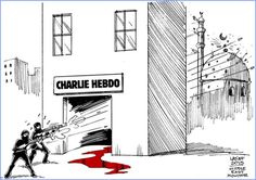 13 Heartbreaking Cartoons From Artists Responding To The Charlie Hebdo Shooting.Cartoonists from all over the world mourn in the wake of a Paris shooting that The New Yorker, Caricatures, Social Comics, Anne Sinclair, Paris Shooting, Illustrator, Paris Attack, Charlie Hebdo, Charlie Charlie