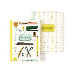 Office Supplies Notebook/Sketchbook Duo