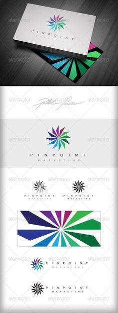 Spiral Wheel Logo - Pinpoint Marketing Logo