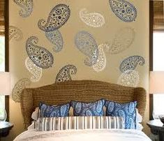 Try our wall art stencils stencils for quick DIY makeover! We offer extra large stencils, wall pattern stencils, wall art stencils for DIY decor. Beautiful and trendy wall painting stencils by Cutting Edge Stencils. Paisley Stencil, Motif Paisley, Stencil Wall Art, Paisley Design, Tile Stencils, Wallpaper Stencil, Paisley Print, Paisley Wallpaper, Paisley Park