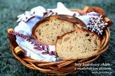 Bílý kváskový chléb s mateřským těstem - Koření života.com Ham, Banana Bread, Food And Drink, Menu, Desserts, Basket, Menu Board Design, Tailgate Desserts, Deserts