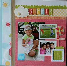 "@Echo Park Paper ""Hello, Summer"" collection.  Layout by @Nancy Damiano"
