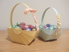 ▶ Easter Basket Papercraft Tutoral - YouTube