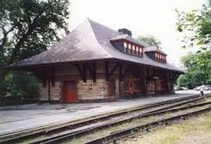 Old Colony Railroad Station, North Easton, MA. It is a sign of Richardson's genius that he is famous for his rail stations - Wow loved this place! Old Train Station, Train Stations, Old Trains, Light Rail, Train Layouts, Built Environment, Train Tracks, Architecture Design, Cathedral