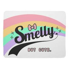 Smelly but cute - a funny colorful baby blanket