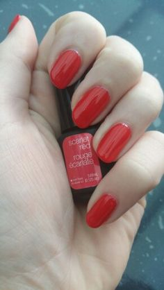 Sensationail ~ scarlet red