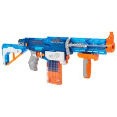 It's time to take your N-Strike battling to the next level with the Retaliator blaster! You can modify this incredible 4-in-1 blaster for any mission! The Retaliator blaster is the ultimate in blaster performance, firing revolutionary Elite Darts at a range of 75 feet. It comes with all the gear you need to be a true N-Strike Elite warrior, and you can use the included Barrel Extension and Stock for 4 possible blaster configurations. Remove or attach the stock, and the Barrel Extension has…