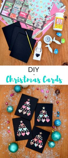 How to make your own Christmas cards using paper punches and Mod Podge (it's really easy!)