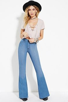 High-Waisted Flare Jeans | Forever 21 - 2000169827