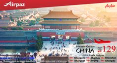 Discover Greater China ! Flight ticket starting from all-in fare RM129 Book Now : http://ow.ly/Mg5o302772O More info : http://ow.ly/aERQ302Bv6O #CheapFlights #Promo #AirAsia #Airpaz #Malaysia #Travel #Backpacker #Holiday #Backpacking #Trip #Vacation