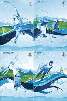Cdn ski stamps for Vancouver Olympics