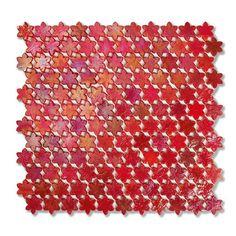 #Sicis #Neoglass Petites Fleurs F14 Peony   #Murano glass   on #bathroom39.com at 365 Euro/box   #mosaic #bathroom #kitchen