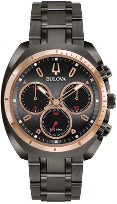 147bdeab9 Bulova Men's CURV Stainless Steel Chronograph Watch - 98A158  #androidwatch,digitalwatch,gpswatch,