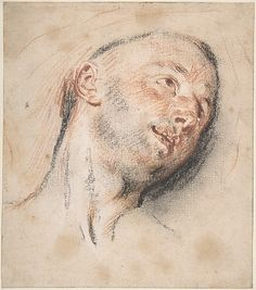 Head of a Man, Antoine Watteau
