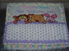 Neutral Gender Winnie The Pooh Baby Cake