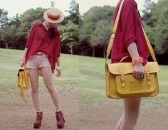 Burgundy and yellow (by Shan  Shan) http://lookbook.nu/look/2179999-burgundy-and-yellow