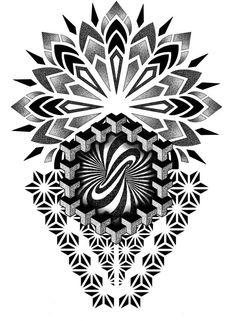 Geometric Pattern Tattoo, Geometric Tattoo Sleeve Designs, Geometric Mandala Tattoo, Music Tattoo Designs, Geometry Tattoo, Mandala Tattoo Design, Body Art Tattoos, Sleeve Tattoos, Flower Cover Up Tattoos