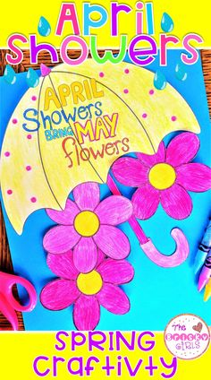 Spring Activities, Spring Coloring, Spring Crafts, Spring Activities for Kids, Coloring Pages, Spring in the Classroom, The Season of Spring, Spring Weather, Spring Crafts for Kids, Umbrella Craft, April Showers, April Showers Bring May Flowers, April Showers Craftivity, April Showers Bulletin Board, April Showers Bring May Flowers Craft