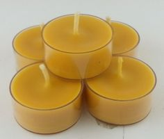 100 % Pure Beeswax 12 Tea Light Candles