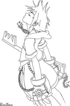 Sora nin KH by neofox on deviantART Lineart Pinterest Naruto