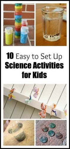 10 Easy Science Activities for Kids – Buggy and Buddy 10 Science Experiments for Kids (that are super easy to set up)! ~ Buggy and Buddy Easy Science Experiments, Science Activities For Kids, Kindergarten Science, Science Classroom, Science Fair, Science Lessons, Teaching Science, Science Projects, Preschool Activities