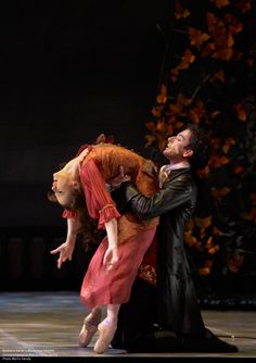 Tobias Batley as Heathcliff with Georgina May as Cathy in the Northern Ballet's 'Wuthering Heights'. [photo: Merlin Hendy]