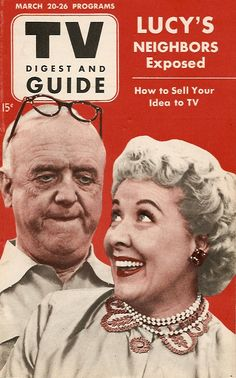 TV Digest and Guide — William Frawley & Vivian Vance as 'Fred & Ethel Mertz' in I Love Lucy (1951-57, CBS)