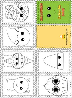 Color Book Halloween Coloring Pages